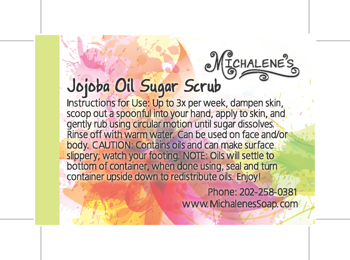 Business Card - Jojoba Oil Sugar Scrub